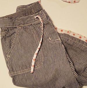 Srtiped capri Mini Boden pants
